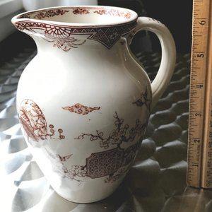 Rare 1800s FURNIVAL Orient Pattern Pitcher